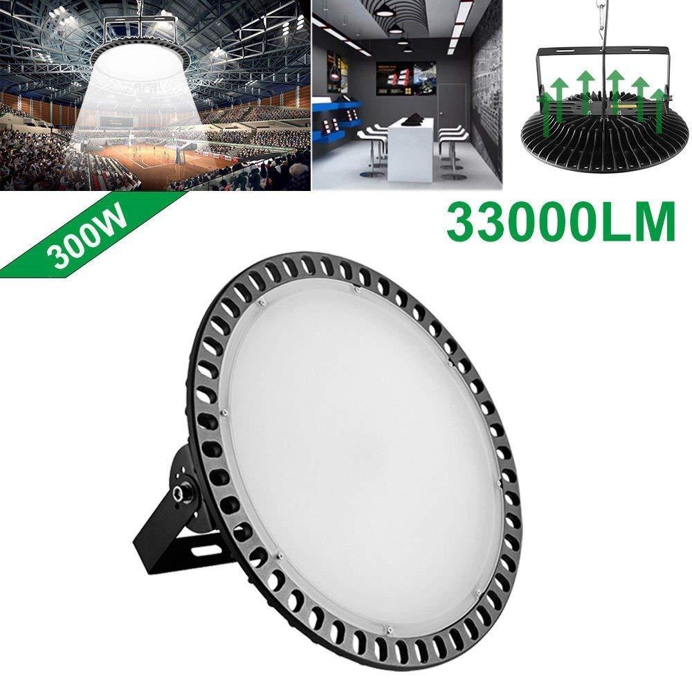 100w,200w,300w UFO LED High Bay Lighting, Getseason,6000-6500K,IP54,Waterproof Dust Proof, Warehouse LED Lights- LED High Bay Lighting - High Bay LED Lights (300)