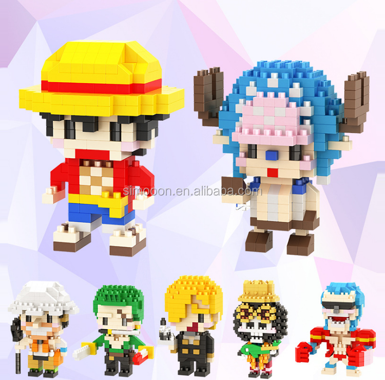 Chopper Robin Nami Usopp Brook Franky micro block toy luffy Sanji zoro one piece action figure