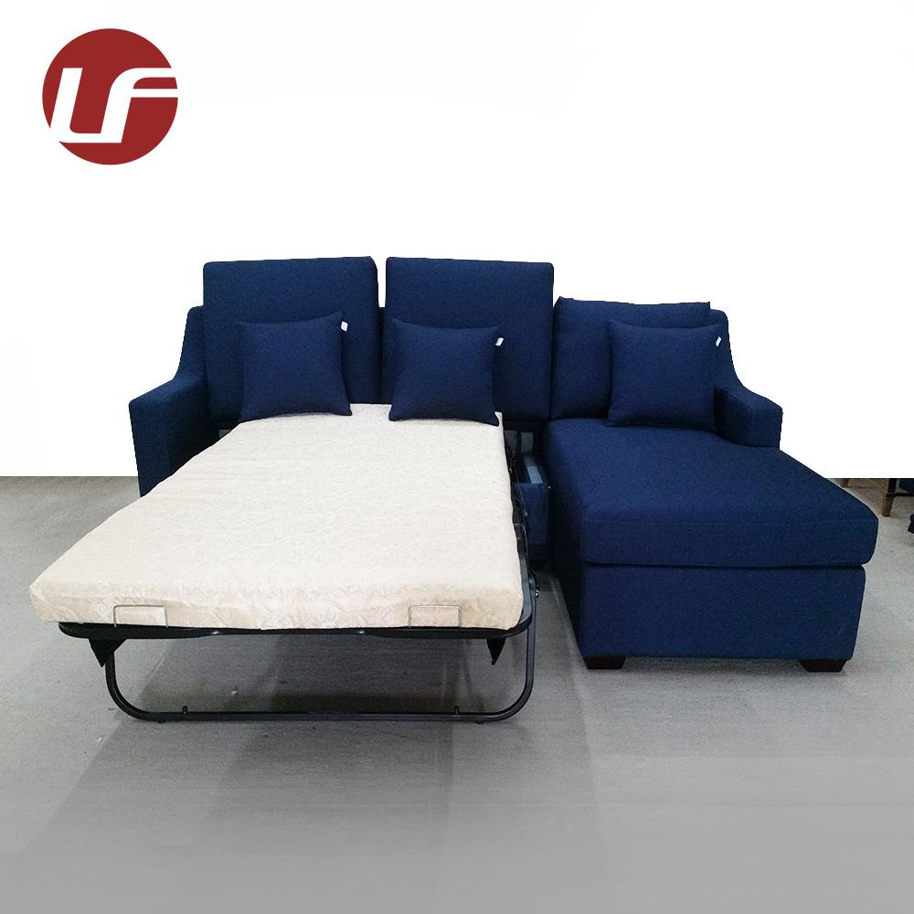 Modern Modular Compact Blue Fabric