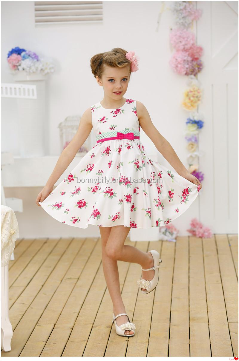 Baby Girl Christening Dressesfloral Girls Dress White Cotton Kids