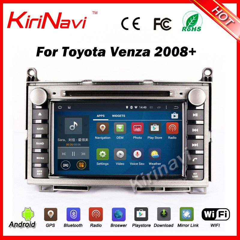 "Kirinavi WC-TS7006 7"" android 5.1 <strong>car</strong> auido player for <strong>toyota</strong> venda 2008+ <strong>car</strong> dvd navigation gps android wifi 3g bt"