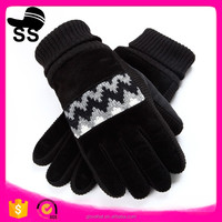 2016 YIWU New Style Gloves Jacquard knittng glove fleecer Gloves winter acrylic knit gloves fashion dress