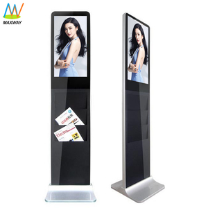 Brochure Holder 21.5 Inch Free Standing Loop Video Vertical Digital Signage Lcd Advertising Display Tv Kiosk