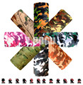 LOOGU Camo Paisley Bandana Camo Army Headband Camouflage Outdoor Sport Bandana Bicycle Cycling Bandana Scarf magic