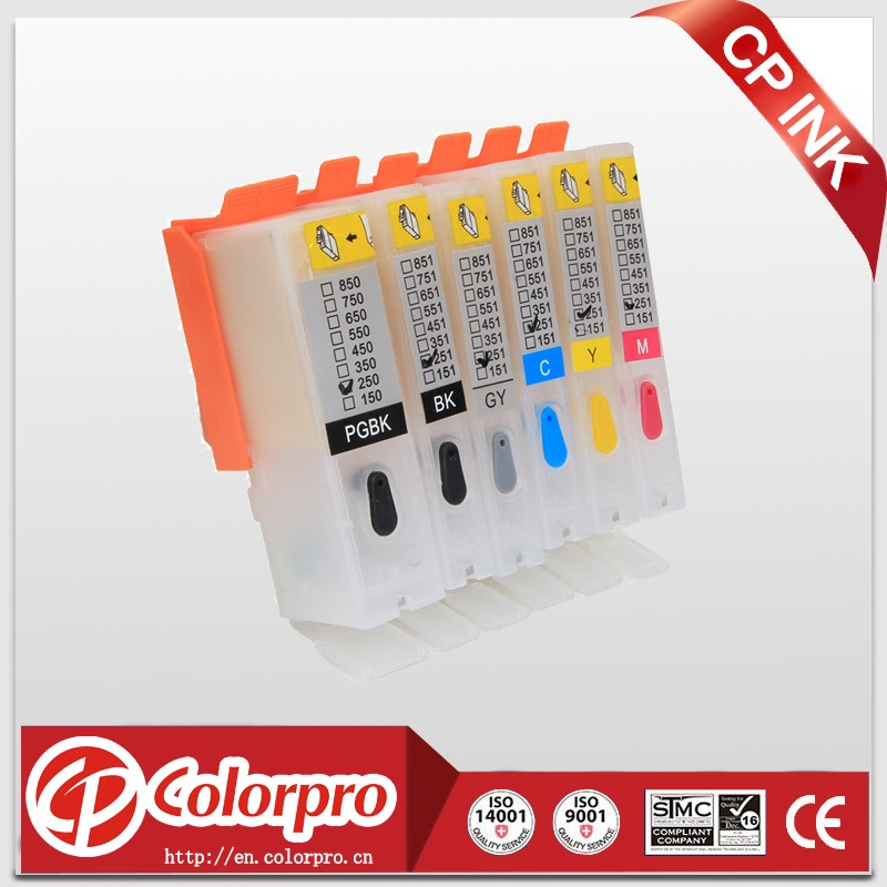 for canon 550 refillable ink cartridge for canon pgi 550 cli 551 auto reset chip refill ink cartridge