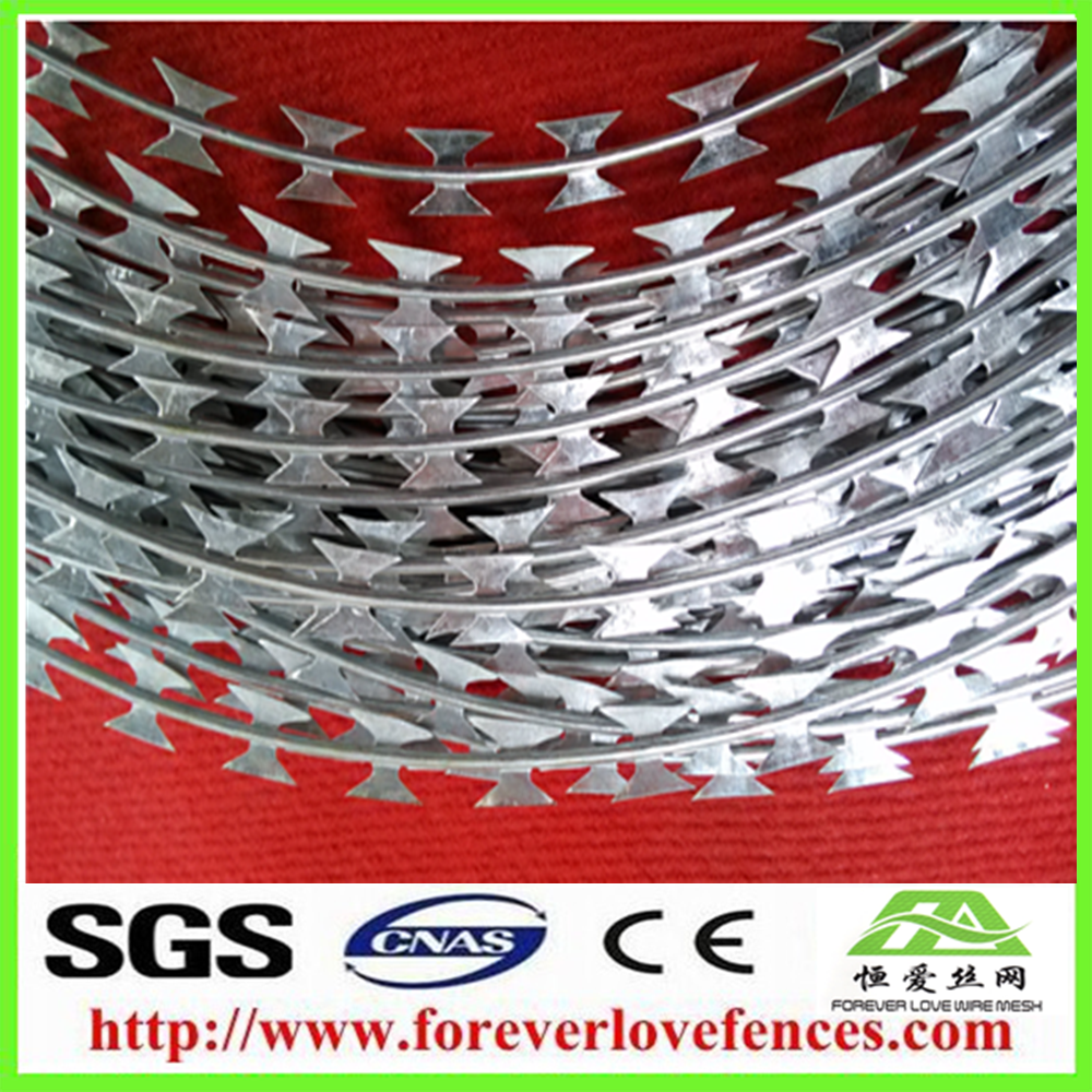 China supplier ex-factory low price hot sale concertina razor barbed wire manufacturer