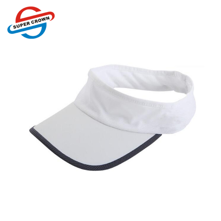 Adjustable plain dry fit sport hat cap running sun visor