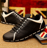 2016 British fashion black dress men shoes