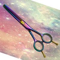 The color plating titanium Professional hair scissors