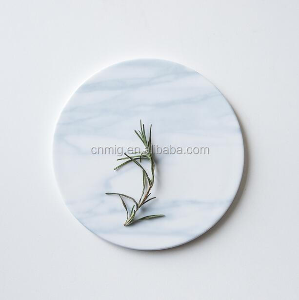 Chinese style round splash-ink stone coaster for afternoon tea