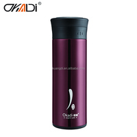 Concise gourd shaped stainless water bottle insulated vacuum flask mug cup