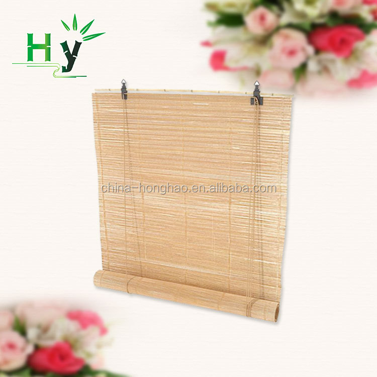 Custom bamboo woven outdoor roller blinds