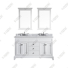 60inch special design double sinks white transitional Bathroom Vanity, Bathroom Cabinet
