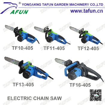 the types of electric tree cutting chain saws