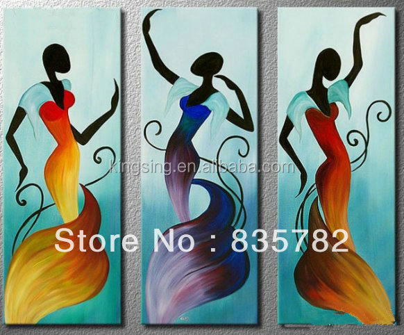 Abstract African Women Oil Painting For Wall Decoration