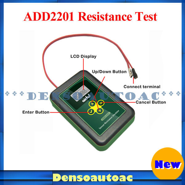 Горячая распродажа цифровой авто тестер сопротивления автомобиля сопротивление симулятор ADD2201 тестер