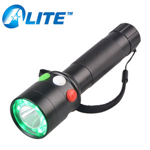 High Quality Multifunctional 3 Color Green Red White Railway Signal Flashlight