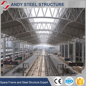 Prefabricated Railway Station Steel Structure Roof Truss