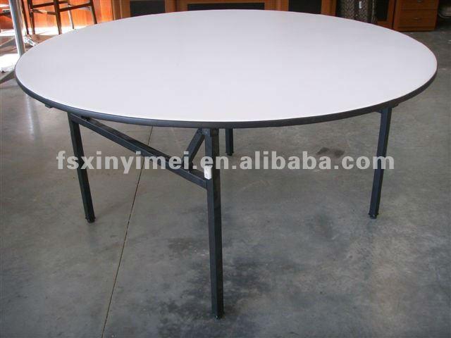 2015 New Design Foldable 10 Seat Banquet Round Table Leg Wholesale