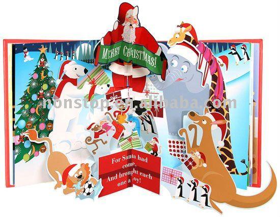Pop Up Zoos : Kerst in de dierentuin pop up boek papier karton