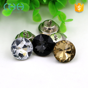 Good quality excellent rhinestones crystal glass sofa button