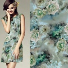 digital print silk chiffon georgette fabric Custom Digital floral Printed Polyester Georgette