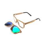 2018 Hot Selling Fashion Wooden Bamboo Sports Sunglasses Clip On Optical Glasses Brand Designer Frame Polarized Sunglasses