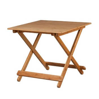 Folded Wooden Bamboo Dining Table Small
