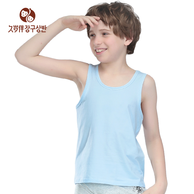 215692650 Get Quotations · factory direct clothing children's clothing boys summer  vest kids camisole sleeveless shirt i shape wear fit