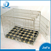 Stainless steel two doors folding dog crate