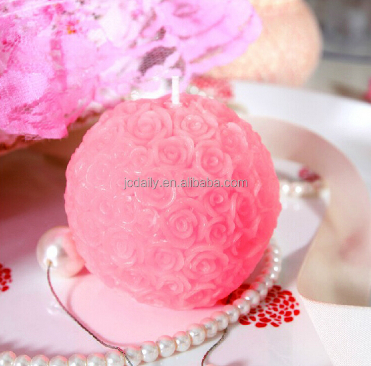 2017 Hot sell handmade rose flower shape candle for wedding and party