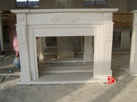 Cultured marble fireplace surround
