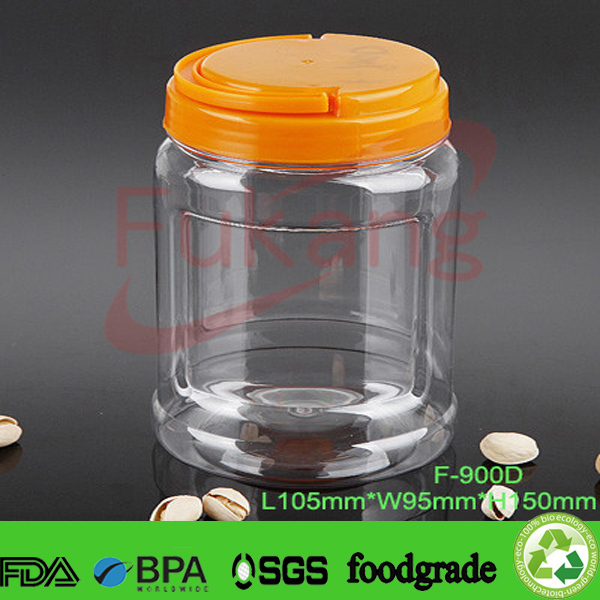 1200ml Plastic Food Grade Container Jar / Pet Candy Bottle Factory ...