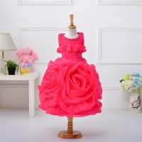 Fashion New Design Baby Girl Ball Gowns Kid Lace Puffy Pageant Luxury Communion Dresses For Children