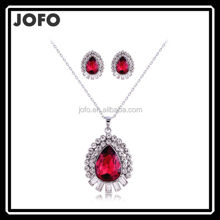 Fashion Jewelry sets Hot Sale European African Jewelry set New Fashion Jewelry,Big Crystal Wedding Women's Earrings Necklace Set