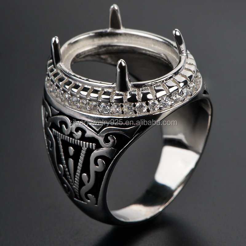 2015 Custom Design Indonesia Sterling Silver Big Stone Finger Ring ...