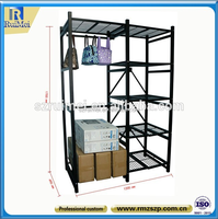 folding portable hanging clothes wardrobe Storage rack