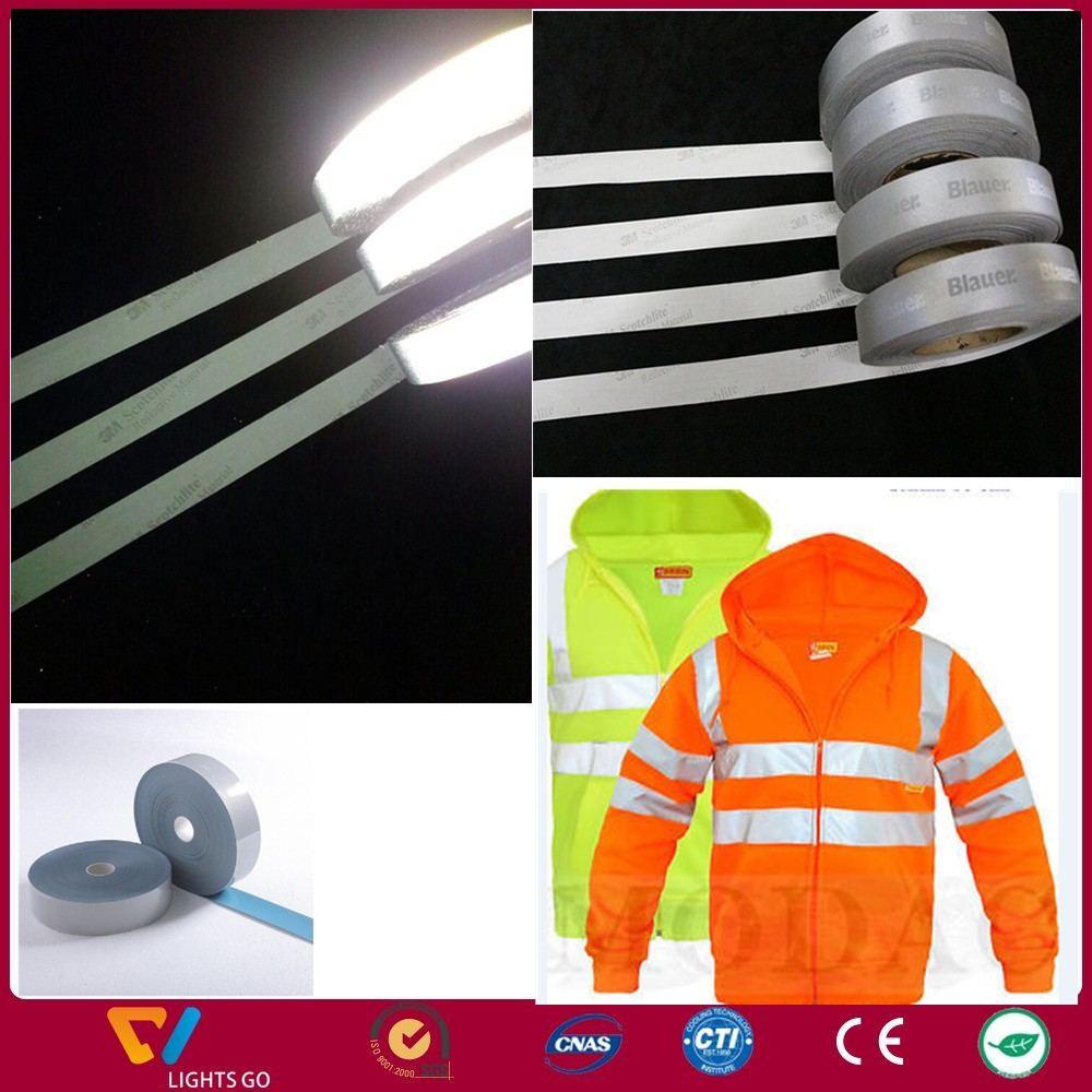 Wholesale EN471 high visibility standard polyester coated silver reflective fabric
