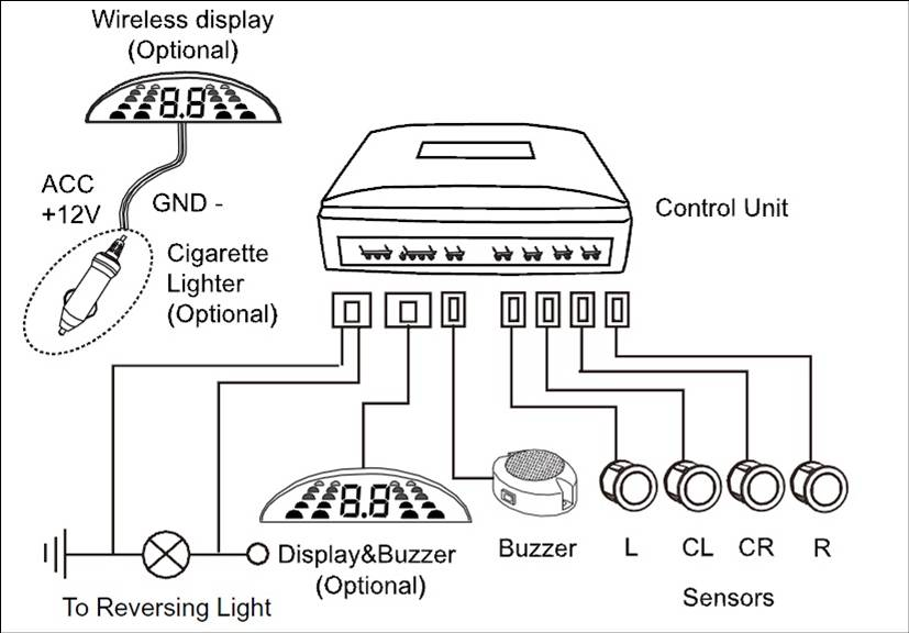 car rear parking sensor with buzzer  u0026quot on