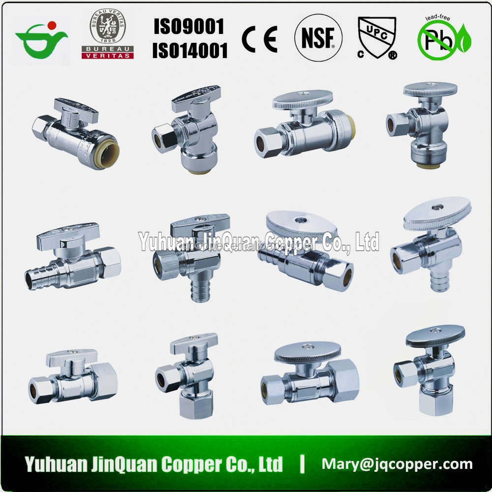 Made in China 2015 nouveaux produits Brass New Types plomberie angle valve