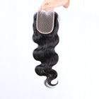 Promotional virgin body wave style full round lace closure baby hair in front