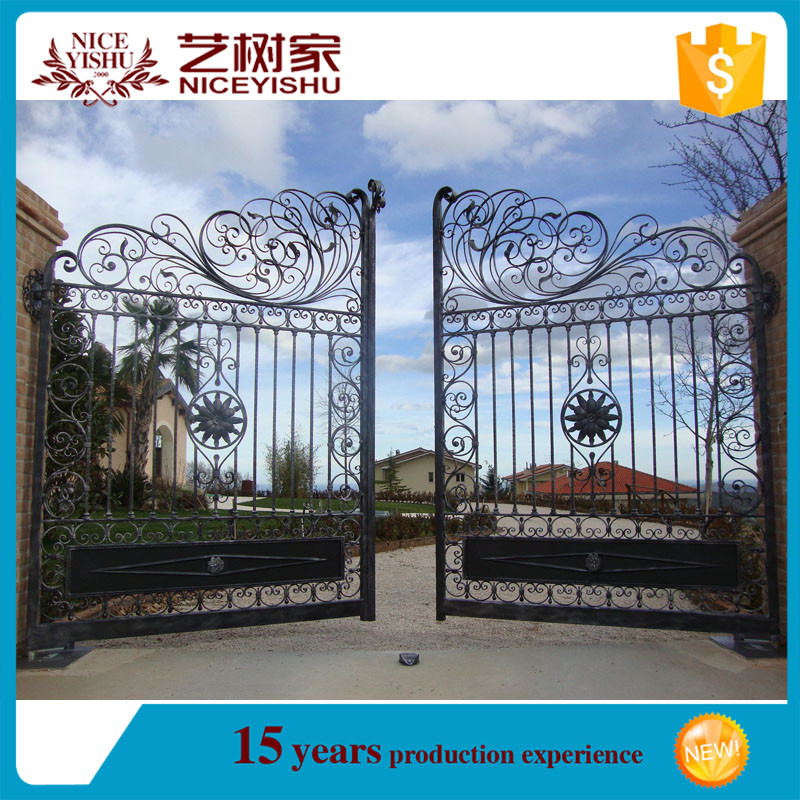 Iron Fancy Gate Boundary Wall Gate Design/indian House Main Gate ...