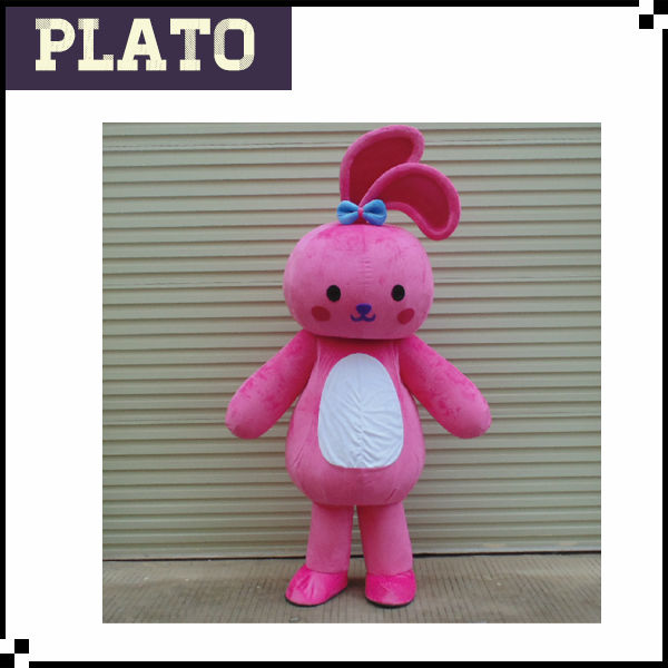 hot sale adult mascot pink rabbit costume for sale