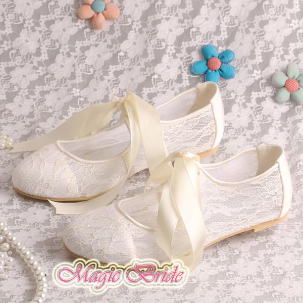 14 Platte KleurenOff Dames Elegante Witte Schoenen Kanten 9YWH2DIE
