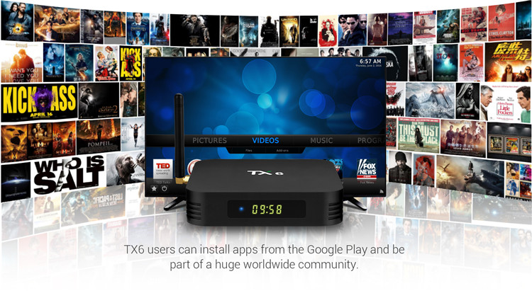 TX6 External Antenna Android Tv Box Android 9.0 BT 5.0 Allwinner H6 Quad-Core 4GB 32GB Smart Tv Box