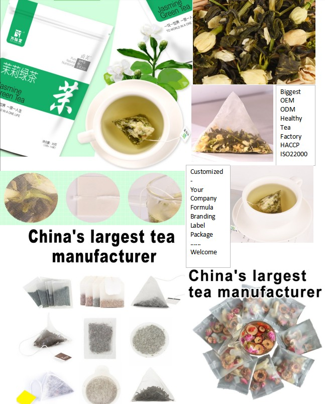 OEM herbal pyramid tea bags Jasmine green tea nylon pyramid teabags manufacturing machines