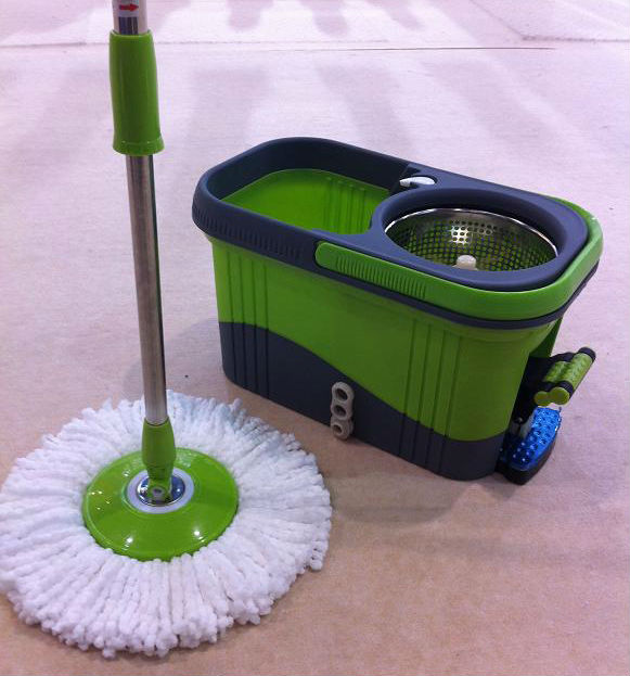 360 Rotating Mop high-quality spin mop hand free rotationg mopplastic mop and broom holder