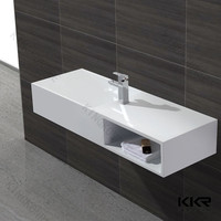 composite stone bathroom wash basin with drawer