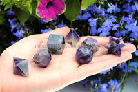 Sacred Geometry 7 Piece Platonic Solids Set with Merkaba Star
