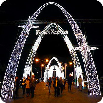wire frame yard outdoor building decoration lights christmas arch decoration